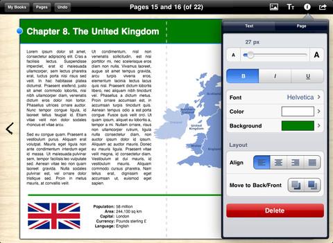 Book Creator sur iPad