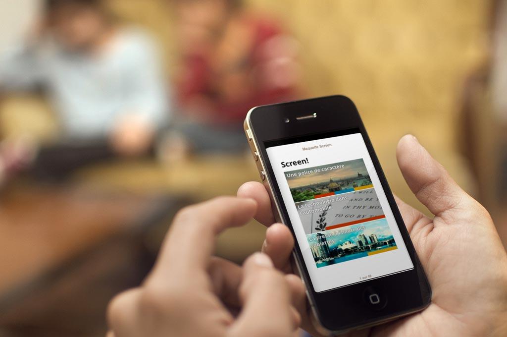 Le sommaire sur iPhone s'adapte à la taille de l'écran afin d'offrir la meilleur lisibilité et expérience d'utilisation possible.