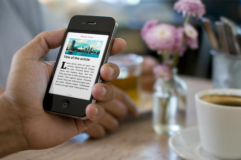 La mise en pages des articles s'adapte également à l'appareil utilisé, sans trahir l'identité de la publication.