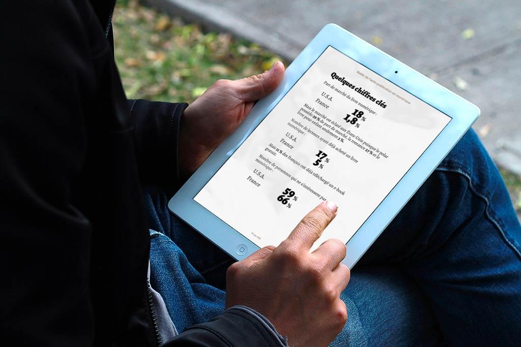 Certaines parties bénéficient d'une mise en page spécifique afin de mettre le contenu en valeur.