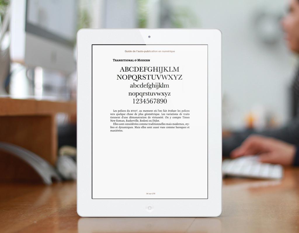 Le livre traitant du sujet de la typographie, il a fallu l'intégrer de la meilleure des façons.