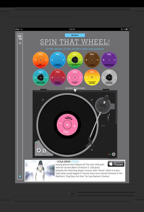 Le type d'interactivité que l'on peut trouver dans les magazines numériques
