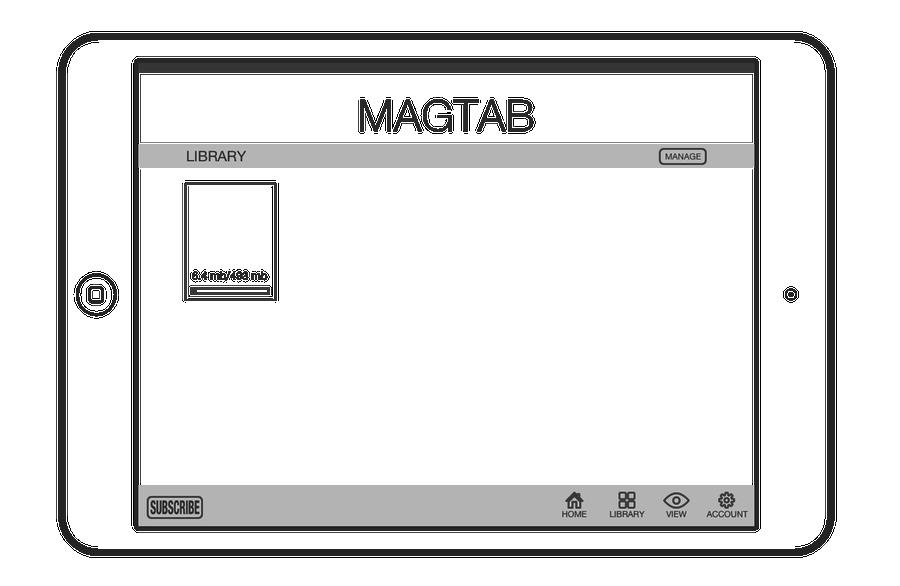 Interface de l'application, on peut voir une barre de progression du téléchargement d'un numéro de la publication
