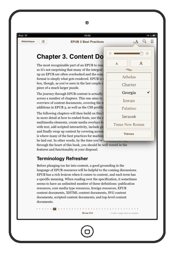 Interface générique, c'est celle du logiciel de lecture