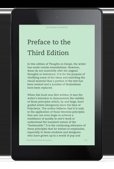 Mode menthe de Kindle