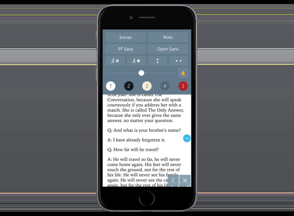 Réglages utilisateurs. 5 couleurs de fond sont par exemple disponibles.