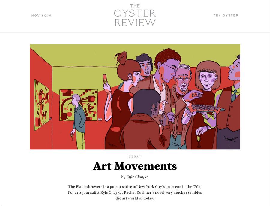 Page d'accueil du site Oyster Review