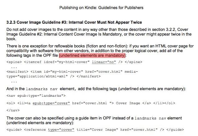 Section 3.2.3 des anciennes guidelines Kindle, erronées.