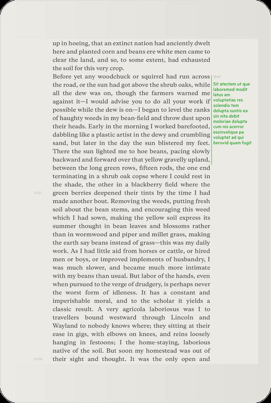 Addr est très minimaliste et permet d'annoter dans les marges.