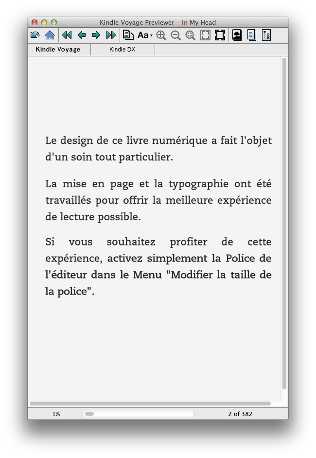 Exemple de message d'avertissement en début d'eBook