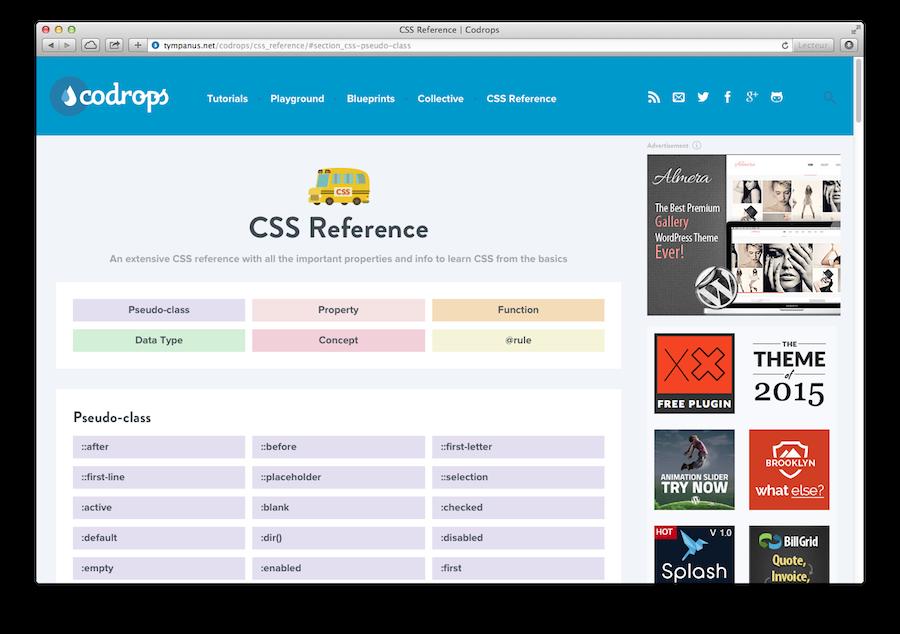 Codrops se lance dans la bible CSS.