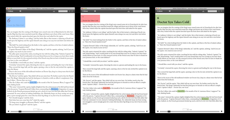 Comparatif livre non structuré avec CSS, même livre sans CSS, même livre structuré sans CSS.