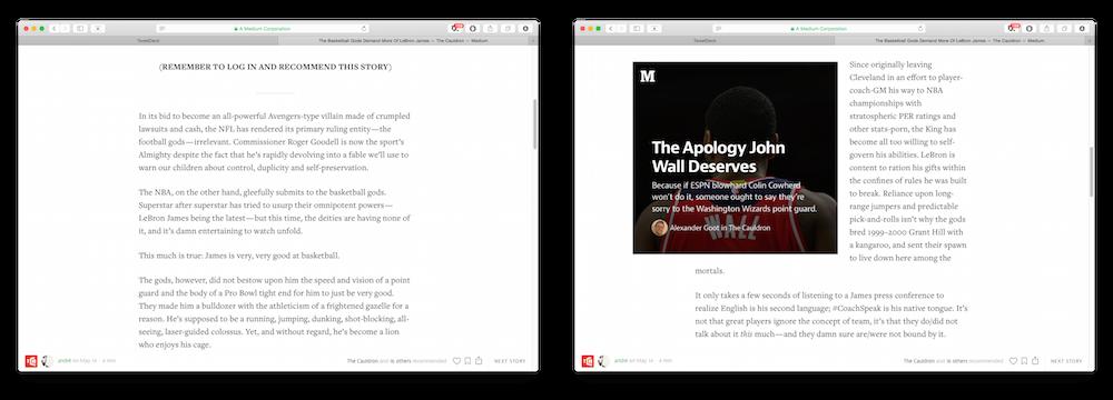 Le genre d'abus que l'on peut croiser de plus en plus régulièrement sur Medium.
