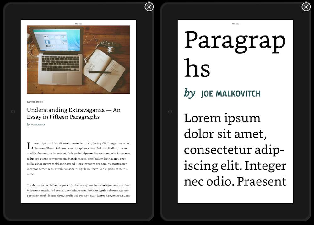 KFX se débarrasse de la lettrine pour améliorer la lisibilité du texte dans les tailles les plus grandes.