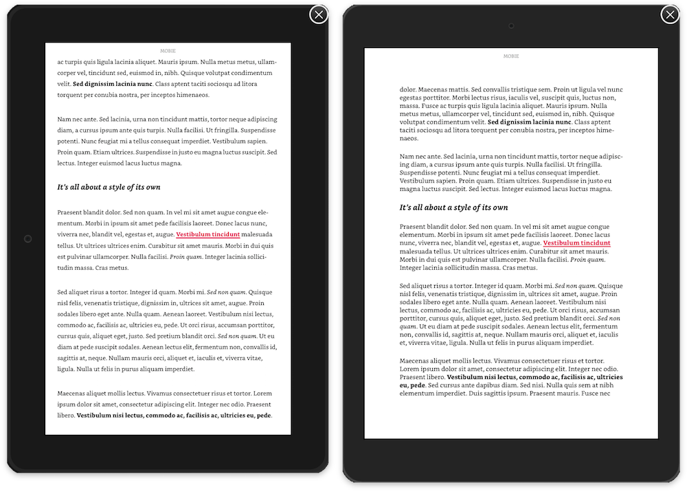 Prévisualisation d'un livre dans Kindle Previewer 3